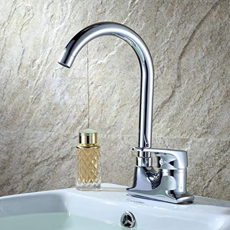 VIOYO Wasserhahn Wasserhahn Küchenarmaturen Messing verbreitet kosmopolitischen hohen Auslauf Einhebel-Waschtischmischer Spültischarmatur