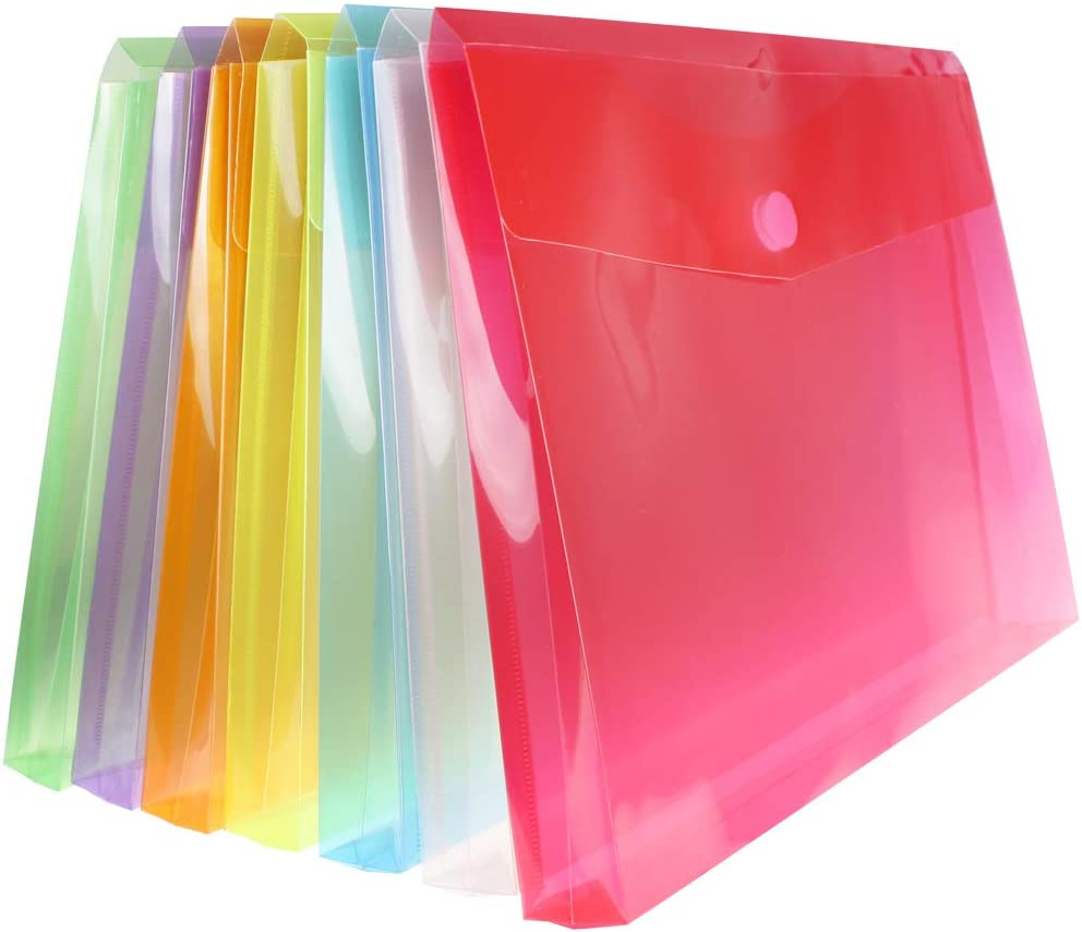 Sale item Poly File Envelopes Letter Size with Hook Quantity limited Ex Closure Loop and 1
