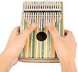LYTLD Kalimba Piano 17 Clés à Pouce Professionnel Instrument de Musique avec Accessoires,Kalimba Instrument en Bois de Haute qualité avec Tuning Hammer pour Les Amateurs de Musique Débutants