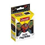 Quercetti - Peg Brite Refills Pack - Includes 180 Pegs in 6 (2516)