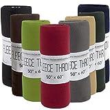 24 Pack of Fleece Throw Blankets Bulk Throw Blankets for Wedding Favors, Homeless Women, Men in Assorted Colors (8 Color)