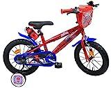 Vélo 14' garçon licence Spiderman - 2 freins avec porte-bidon + bidon arrière