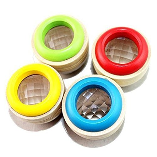 bjduck99 Best Wooden Educational Kaleidoscope Baby Children Learning Puzzle Sensory Toy