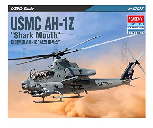 ACA12127 1:35 Academy USMC AH-1Z Cobra 'Shark Mouth' [Model Building KIT]