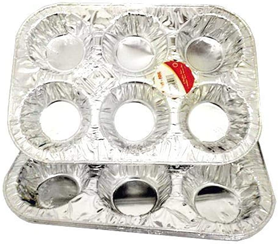 Disposable Aluminum Foil Muffin Cupcake Pan Pack Of 3 Pans Tin Size For Baking Cupcakes Ideal For Parties