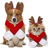Pañuelo de cabeza para mascotas, Bandana Perro de Navidad, Pañuelo de Navidad de Perro, Disfraz para Mascota, Pañuelo para Perro Navidad, Baberos para Mascotas, pañuelos para disfraz (A)