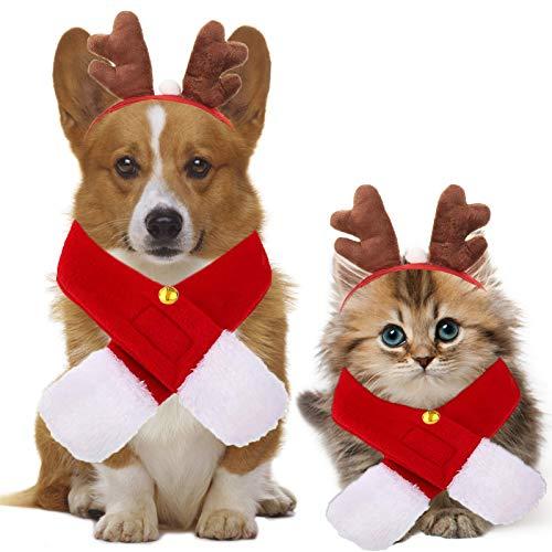 Sunshine smile Weihnachten Hundekleidung Katze, Haustier Weihnachtsdekoration Hund Stirnband Mode Geweih Hut Haustier Partei Hundekostüm für Weihnachten Haustier Kopfschmuck