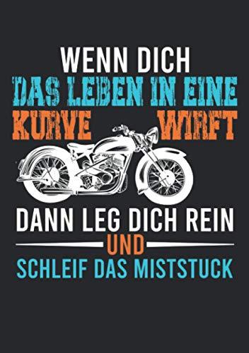 Notizbuch A5 liniert mit Softcover Design: Lustiger Motorrad Spruch Chopper Männer Geschenk Retro: 120 linierte DIN A5 Seiten