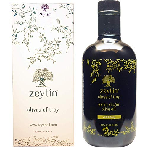 Zeytin Premium Extra Virgin Olive Oil - AWARDED I Early-Harvest I Small Farm I Medium Intensity I VEGAN I KETO I Cold Pressed I Single-Sourced I Unfiltered I (Rich & Fruity, 500 ml (16.9 oz))