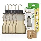 Haakaa Silicone Milk Storage Bag,Reusable Breastmilk Bags for Breastfeeding,Food Grade Silicone,BPA Free,9 oz/260 ml (5 Count)