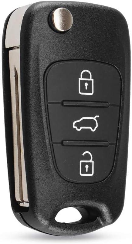 Outlet SALE BUQDA 3 Button Flip Key Folding Car Same day shipping Shell Sporta for Kia