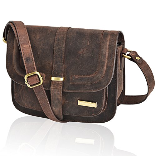 Material: Crafted from 100% genuine leather, our brown crossbody is meticulously stitched into a gorgeous, durable and vintage masterpiece. The supreme quality leather resists wear and tear making it a versatile option for daily use. Construction: Th...
