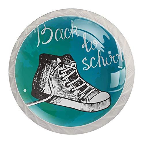Tirador de manijas de cajón para el hogar, cocina, tocador, armario,Zapatos de regreso a la escuela