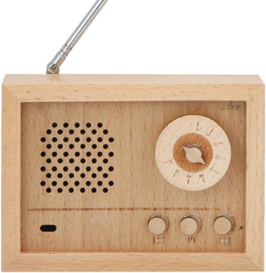 DAUERHAFT Caja de m/úsica a Cuerda Caja Musical con Forma de Radio Artesan/ía art/ística Regalo de cumplea/ños D/ía de San Valent/ín Decoraci/ón del hogar Artesan/ía Panal
