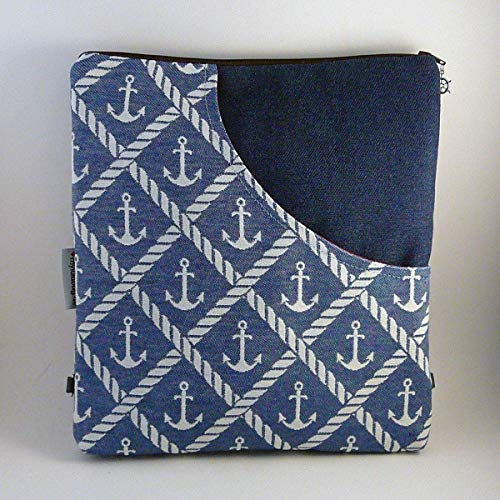 Schultertasche von MYLULABAG Umhängetasche wandelbar zum Rucksack blau ANKERTASCHE 2
