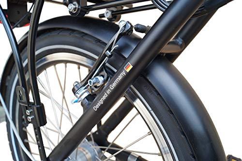 51n+Ak7j49L - SAXXX Foldi Plus Faltrad Klapprad E-Bike Pedelec Vorderradmotor 7,8Ah 250W 36V Lithium-Ionen Akku Shimano 3Gang Nabenschaltung mit Rücktritt