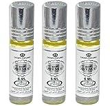 Set de 3 Almizcle Musk AVENUE Al Rehab 6ML Perfumes de Mujer Perfumes Hombre Attar Perfume Sin Alcohol 100% de Aceite Almizcle Oud Roll on, NOTAS: Cítricos, Pachulí, Balsámico, Oud, Almizclado