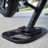 KiWAV Motorcycle kickstand pad support black x1...