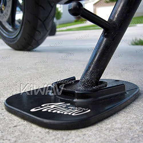 KiWAV Motorcycle kickstand pad support black x1 piece soft ground outdoor parking