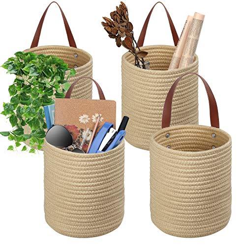 TomCare 4 Pack Hanging Baskets Wall Basket 7.9