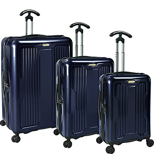 PROKAS Ultimax 3-Piece Spinner Luggage Set (Navy)