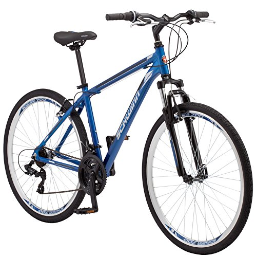 Schwinn GTX 1.0 Comfort Adult Hybrid Bike, Dual Sport Bicycle, 18-Inch Aluminum Frame, Blue