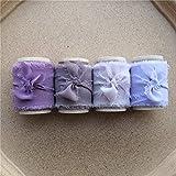 ABOO 4 cintas de seda de gasa con borde deshilachado con carrete de madera para invitación de boda, 4 cm x 5,5 m