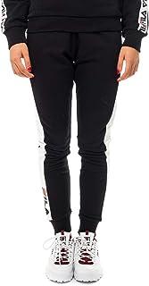 FILA Women's Freya Sweat Pants, Black (Black/Bright White), Small