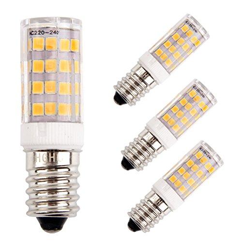 LED E14 dunstabzugshaube Lampe, 5W Ersatz für 40W Halogenlampen, Warmweiß 3000K, 220-240V 400lm, 4er-Pack