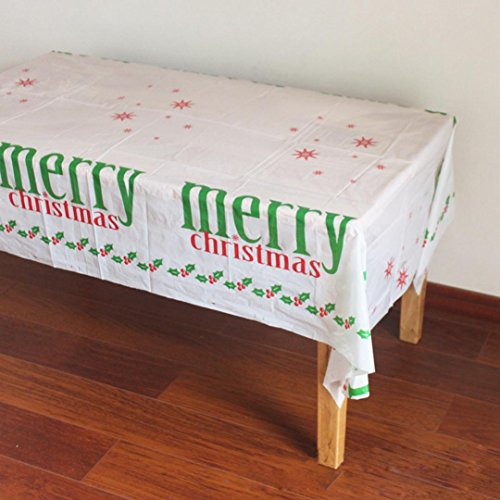 Clearance!!Christmas Printed Tablecloths,Rectangular Waterproof Picnic Tablecloth Christmas Home Deco Wedding Restaurant Party by ZYooh (A)