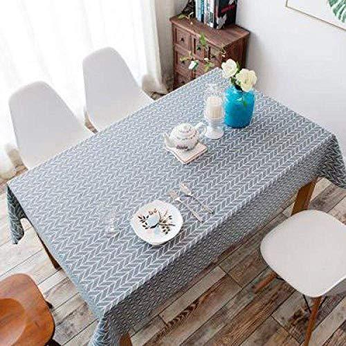 Zhihao Tabla Caliente Tela de Lino Plaza Rectangular Rural Manteles Cena Cubierta de Mesa Mesa del hogar decoración Textil ángulo Negro 120x160 cm (Color : Grey Arrow, Size : 130x180 cm)