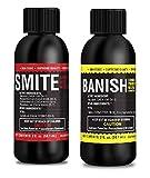 Smite Banish 2oz Concentrate Bundle All Natural Pesticides Spider Mite Killer Fungicide Downey & Powdery Mildew Control (Smite 2oz Makes 2 Gallons, Banish 2oz Makes 15 Gal) (Smite/Banish 2oz Bundle)