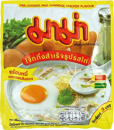 MAMA Instant Reisporridge mit Hühnerfleischgeschmack – Aromatisches Reisgericht – Schnell & einfach zubereitet – 12 x 50 g