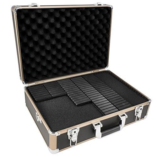 TS-Optics Kamerakoffer Fotokoffer mit Schultergurt, Universalkoffer inkl. Rasterschaumstoff + Trennstegen für Flexible Unterteilung, Flexkoffer