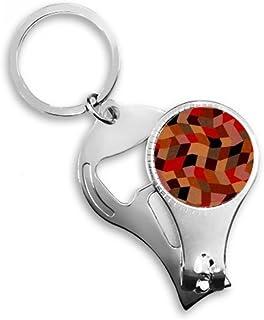 DIYthinker Diamond Polygon Tile Colorful Patterns Key Chain Ring Toe Nail Clipper Cutter Scissor Tool Kit Bottle Opener Gift