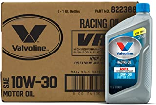 Valvoline 10W-30 VR1 Racing Motor Oil - 1qt (Case of 6) (