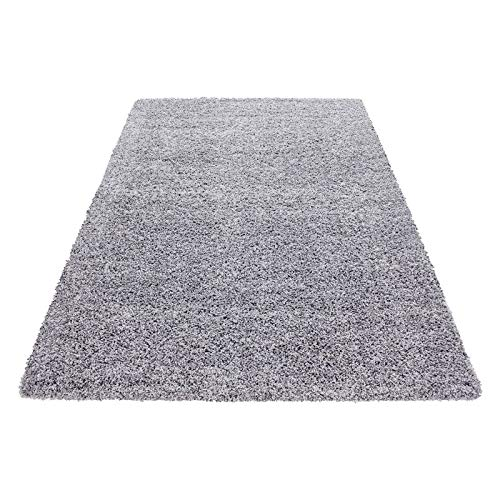 Carpets & Rugs for Living Room, Dining room or guest room shaggy unicolor Carpets & Rugs with 3 cm 1500, Size:60x110 cm, Color:Lightgrey