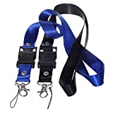 XinwaY Hand Wrist Strap Lanyard for USB Flash Drives, Cell phone, Keys, Keychains, Mp4, Mp3 2 Pack (Blue Black)