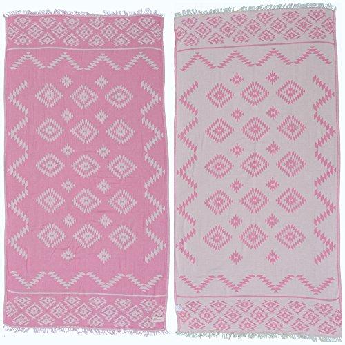 Bersuse 100% Cotton Teotihuacan Dual Layer Turkish Towel - 37x70...