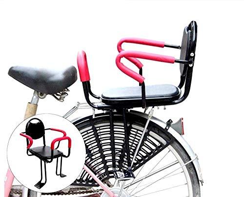 QXFJ Fahrradsitz Kinder,Kinder Fahrrad-Kindersitz Fahrradkindersitz Fahrradkindersitz RüCksitz Abnehmbarer FahrradrüCksitz Sicherheitsfahrradsitz Geeignet FüR 2-7 Jahre Alte Kindersitze