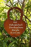 Dekostüberl Edelrost Sternenring D40cm, inkl. Herzle 8x6cm Weihnachten Advent Tischdeko - 4