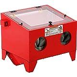 Stark 25 Gallons Sand Blaster Cabinet SandBlaster Top Blaster Blasting Media Large Work Bench Built-in Light, Red