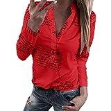 Blusa Mujer Camisa De Otoño Botón Estrella De Cinco Mode De Marca Puntas Taladro En Caliente Tops Top Manga Larga 3 4 Mangas O Cuello Sudadera Manga Larga Camisa Suelta Túnica