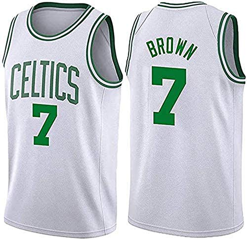 WHYYT Jerseys de la NBA de los Hombres - Boston Celtics # 7 Jaylen Brown Basketball Jersey, Tela Transpirable Cómodo Uniforme Unisex Unisex,XL(180~185CM/85~95KG)