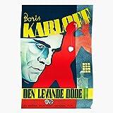 LAKO Film Walking Boris Dead Vintage Horror Zombie Karloff Movie Zombies Best for Home Decor Fine Wall Art Print Poster
