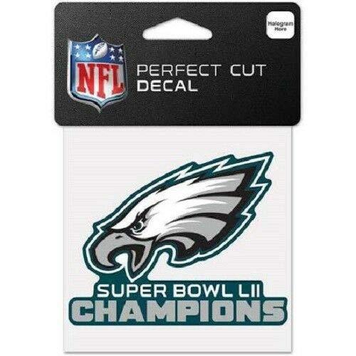 Philadelphia Eagles Originaler NFL Super Bowl Champions Aufkleber in 10x10 cm