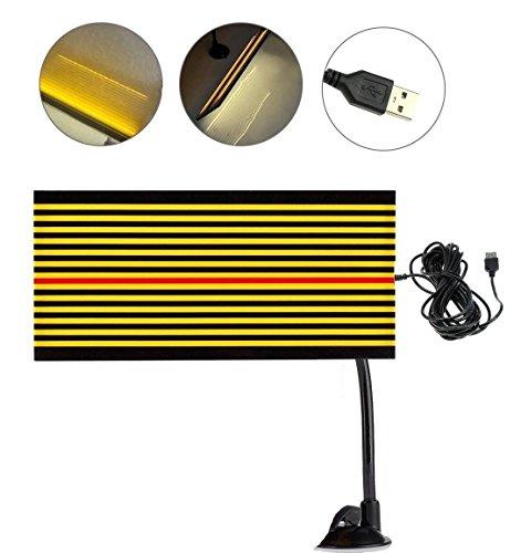 GS PDR Bande réfléchissante à LED pour réparation de sans peinture pour la détection de bosses et la réparation des dommages causés par la grêle avec câble USB 5m de long et un support,lumière jaune