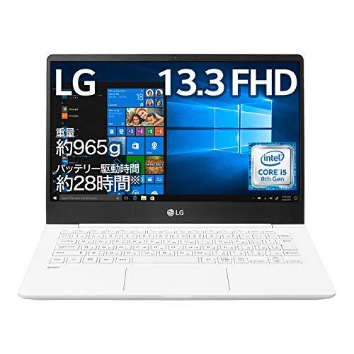 LG ノートパソコン gram 965g/バッテリー28時間/Core i5/13.3インチ/Windows 10/メモリ 8GB/SSD 256GB/ホワ...