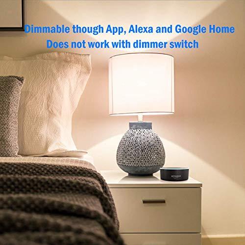 LEDesignスマート電球AlexaGoogleHome対応エジソン電球フィラメントバルブE2660W相当2700K電球色調光器内蔵[改良版]