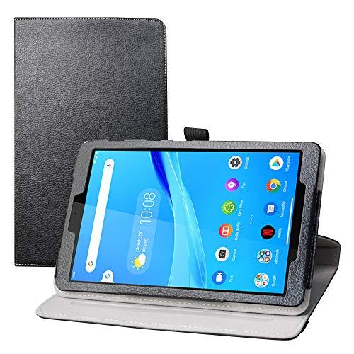 LFDZ Lenovo Tab M8 FHD hülle,360° Drehbarer Stand Cover Premium Schutzhülle Tasche Etui mit Ständerfunktion Hülle für 8